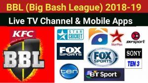 Big Bash Broadcasting TV Channels